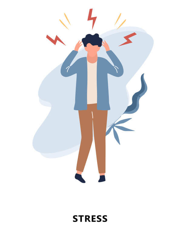 ストレス障害の患者